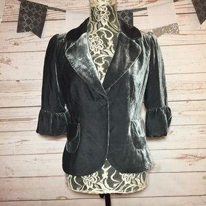 Halogen Velvet Silk Blend Button Blazer Jacket M